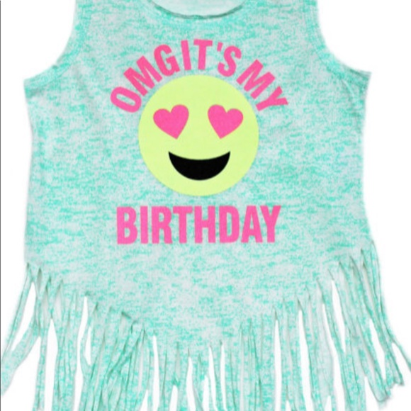 OMG Its My Birthday Emoji Shirt M 5c37cfcb6a0bb7c8762824bb